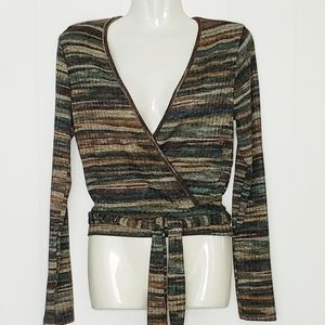 Free People Movement NWT Faux Wrap Crop Top